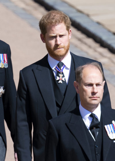 prince harry at funeral