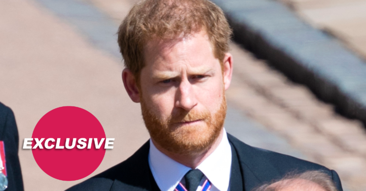 Prince Harry looked anxious at Prince Philip's funeral