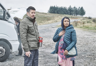 Martin and Kaneez played by Sunetra Sarker and Robert James-Coller (Credit: Stuart Wood / Channel 4)