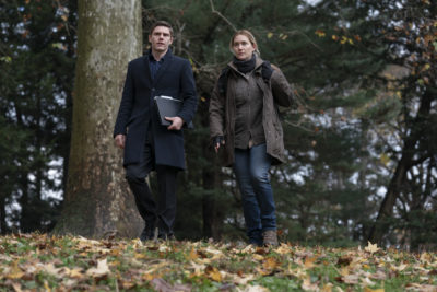 Phone records lead Mare and Colin to question an unlikely suspect in Mare of Easttown (Credit: Sky Atlantic)
