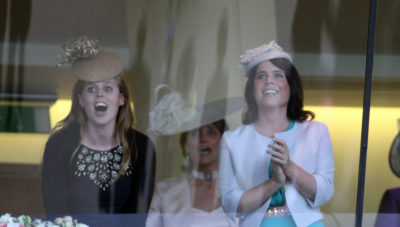 Princesses Beatrice and Eugenie at the races