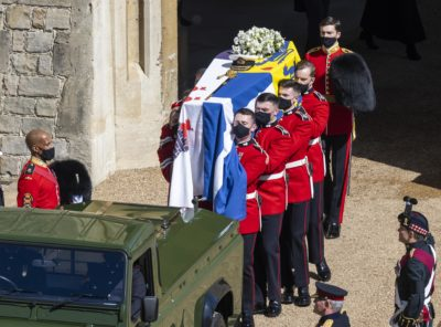 The Queen left a personal message at the funeral