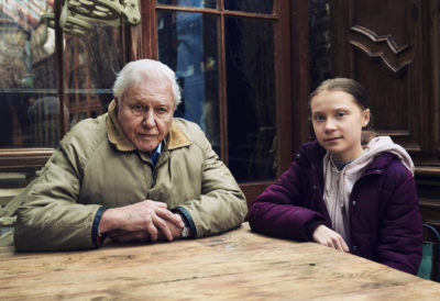 Greta Thunberg meets her idol David Attenborough (Credit: BBC One/Alex Board)