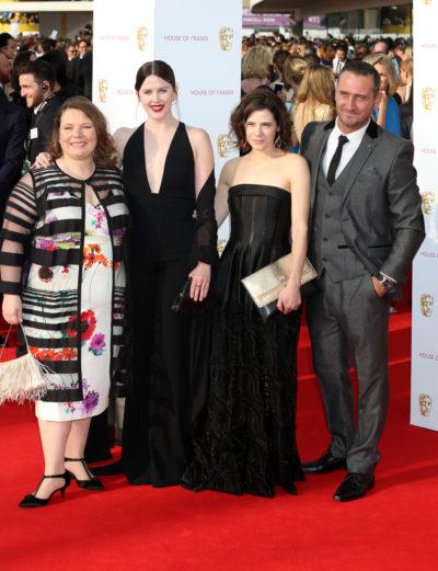 Alexandra Roach alongside her No Offence cast mates
