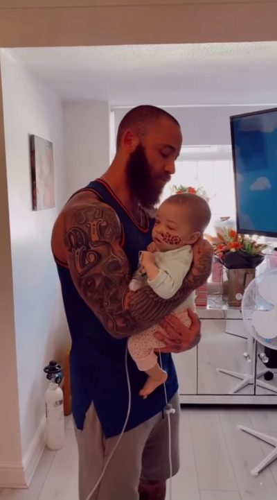 Ashley cain and his baby