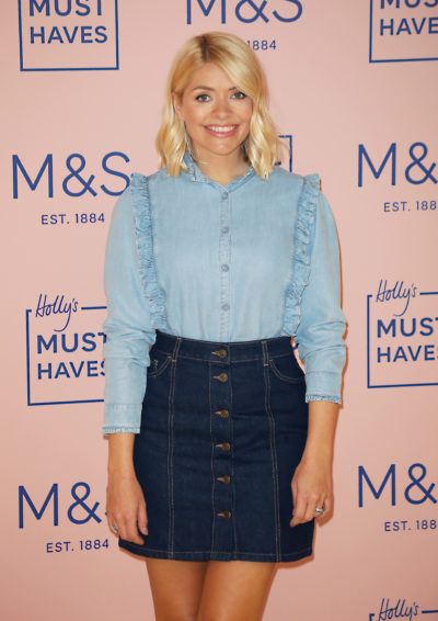 holly Willoughby at an M&S event