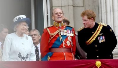 Prince Harry and his grandparents