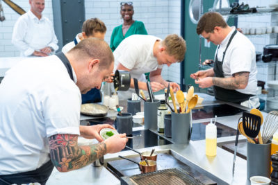 Chef Simon Rogan appears as a guest judge on Great British Menu (Credit: BBC Two)