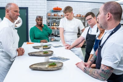 Four chefs compete for the North East, Yorkshire and the Humber region (Credit: BBC Two)