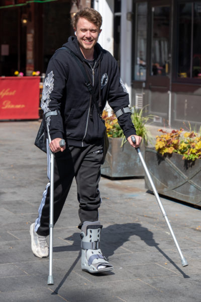 Roman Kemp has fractured his ankle