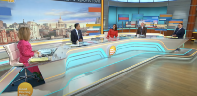 Kate has opened up on GMB about Derek's health
