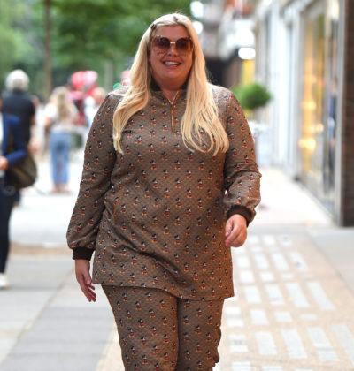 Gemma Collins walking in London