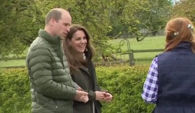 Prince William and Kate Middleton were all smiles on a tour of a County Durham farm