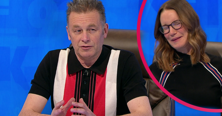 Chris Packham brought some bear poo in for Countdown star Susie Dent to smell