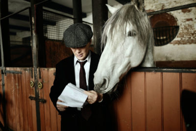 Cillian Murphy plays Tommy Shelby in Peaky Blinders (Credit: BBC One)