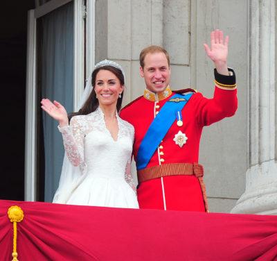 royal wedding will and kate waving