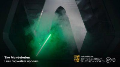 Luke Skywalker appears in The Mandolarian (Credit: Disney/Virgin Media BAFTAs)