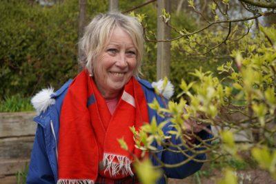 Carol Klein in her cottage garden in Devon (Credit: Channel 5)