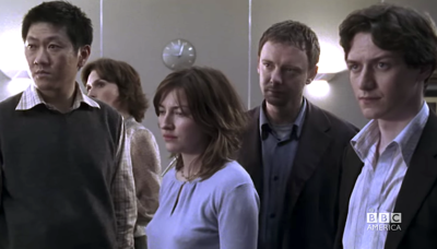 John Simm and Kelly Macdonald in State of Play