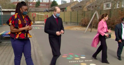 Prince William and Kate Middleton visit school