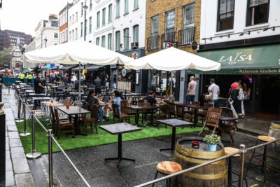 Alfreso dining plans might have to be postponed due to Monday's predicted rain