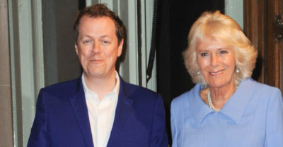 Camilla with her son Tom Parker Bowles