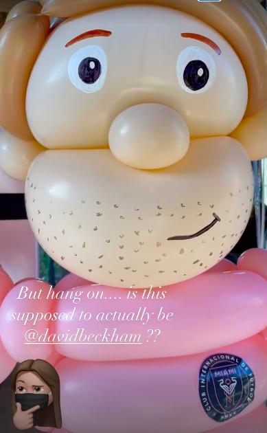 victoria buys a david beckham birthday balloon