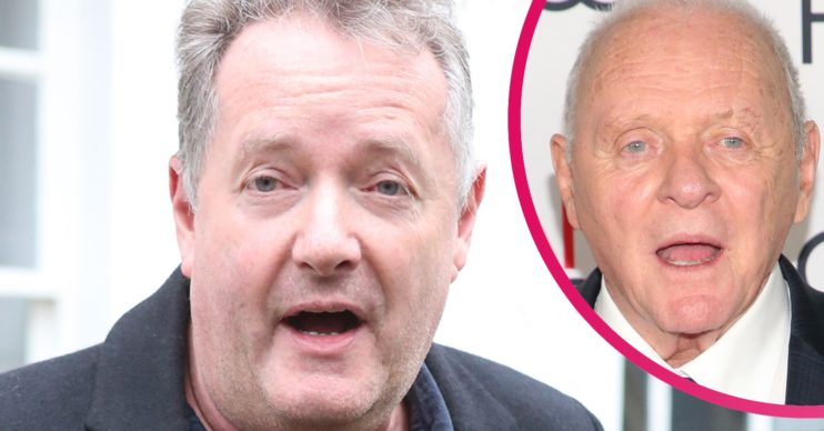 SIr Anthony Hopkins and Piers Morgan
