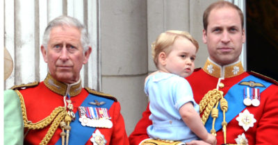 Prince Charles and Prince William with a young Prince George