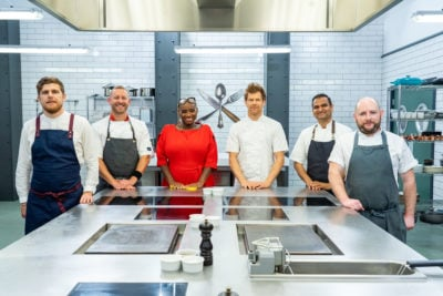 Tom Aikens appears as a guest judge on Great British Menu