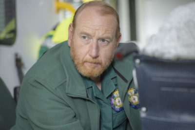 Adrian Scarborough appears as mild-mannered Gary in Bloods (Credit: Sky One)