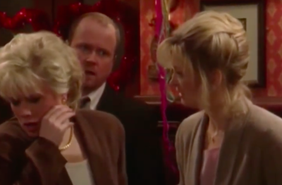 Kathy Beale in EastEnders with Sharon and Phil
