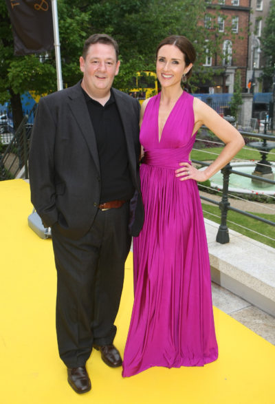Johnny Vegas and wife Maia Dunphy
