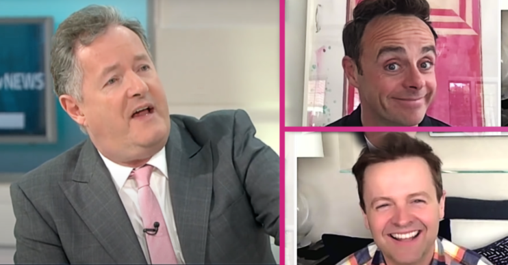 Ant and Dec poke fun at Piers Morgan