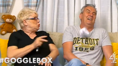 Jenny and Lee on Gogglebox
