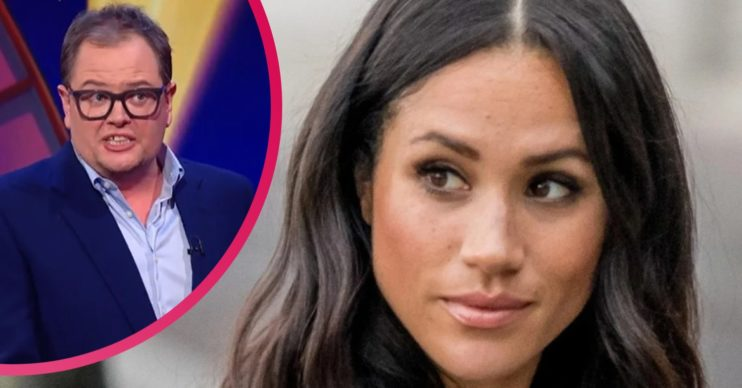 Meghan Markle news: Alan Carr divides Epic Gameshow viewers with cheeky dig at Duchess of Sussex