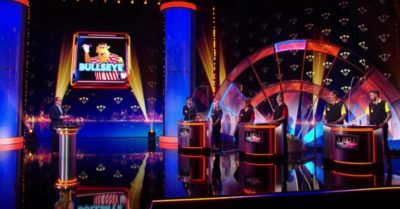 Alan Carr and contestants on Epic Gameshow