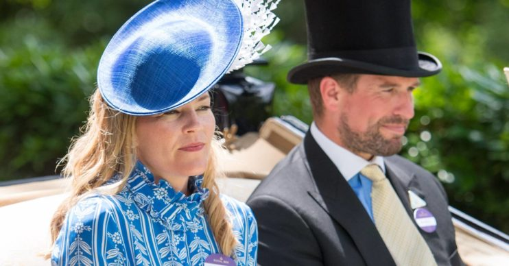 Autumn Phillips and Peter Phillips at Royal Ascot in 2018