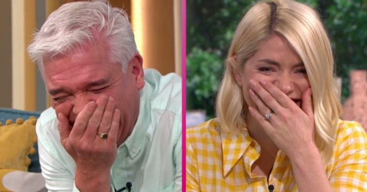 This Morning: Holly Willoughby and Phillip Schofield apologise to 'farting' guest as they struggle to contain giggles
