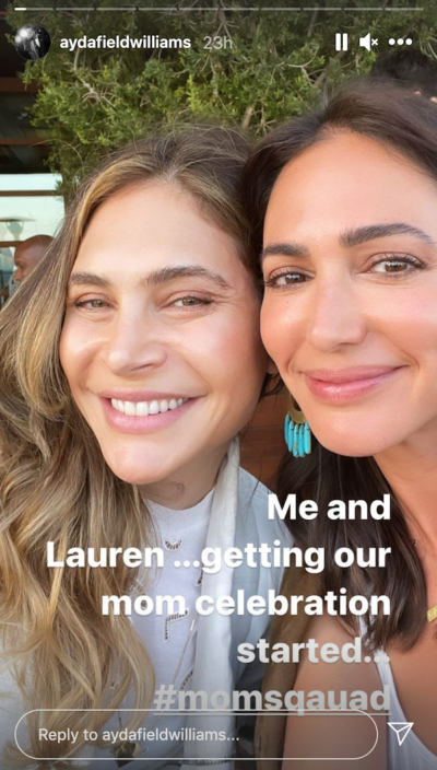 Ayda Field shared this snap with Lauren Silverman on Insta