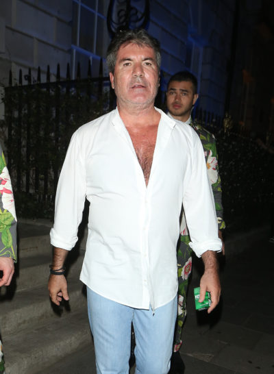 Simon Cowell before his weight loss