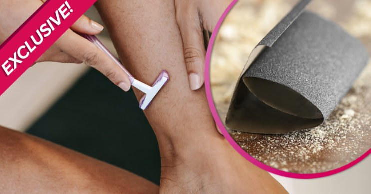 Health experts warn against shaving with sandpaper