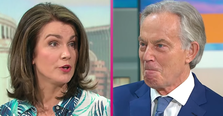 Tony Blair's hair was mocked on GMB today
