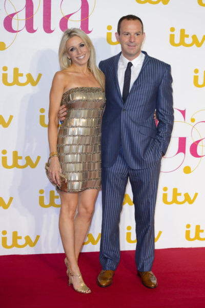 Martin Lewis with wife