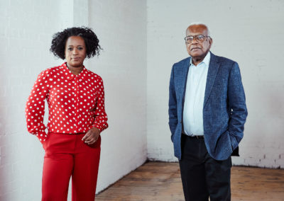 Charlene White and Trevor McDonald