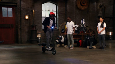 Dragons' Den scooter pitch
