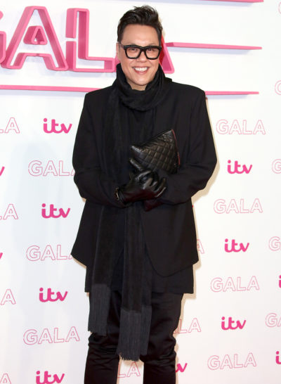 gok wan on the red carpet