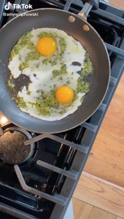 pesto eggs recipe