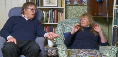 Gogglebox Giles and Mary clashing on the show