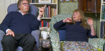 Gogglebox star Mary tells off Giles on the show
